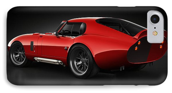 IPhone Case featuring the digital art  Shelby Daytona - Red Streak by Marc Orphanos