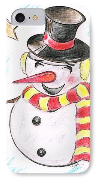 Snowmans  Stardom IPhone Case by Teresa White
