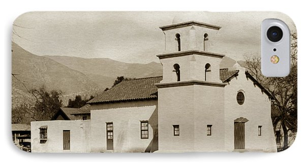 IPhone Case featuring the photograph  St. Thomas Aquinas Catholic Church  Ojai Cal 1920 by California Views Mr Pat Hathaway Archives