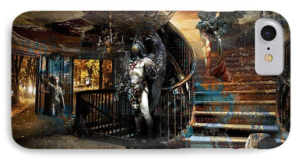 Stairway To Heaven Vs. Stairwell To Hell IPhone Case by George Grie