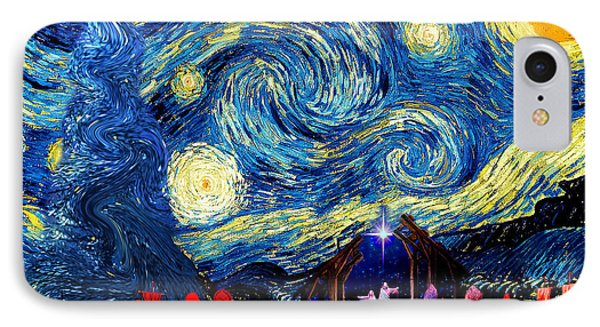 Starry Night In Bethlehem Phone Case by Sylvia Thornton