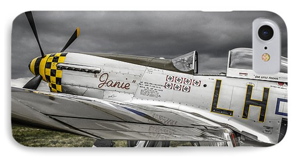 Stormy Sky Mustang IPhone Case by Chris Smith
