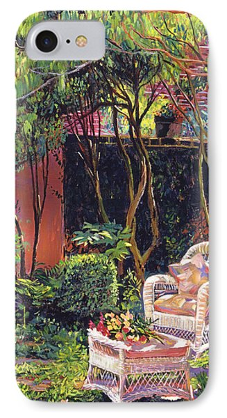 Sunny Summer Patio IPhone Case by David Lloyd Glover