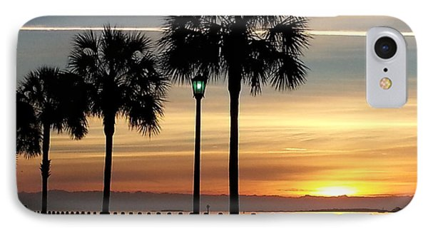IPhone Case featuring the photograph  Sunrise Beyond Carolina  Palms by Joetta Beauford