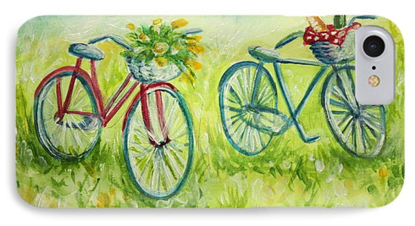 Sweet Bike Ride Picnic IPhone Case by Elizabeth Robinette Tyndall