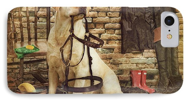 Tack Cleaning Day IPhone Case by Trudi Simmonds