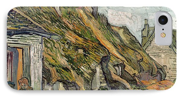 Thatched Cottages In Chaponval Phone Case by Vincent van Gogh