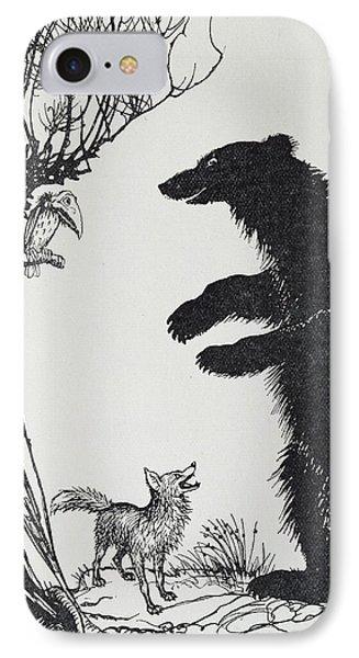 The Bear And The Fox IPhone Case by Arthur Rackham