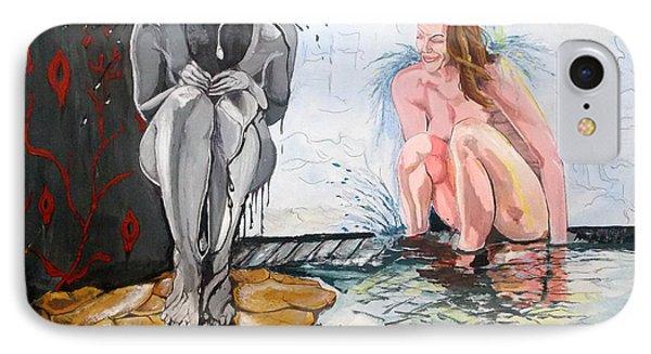IPhone Case featuring the painting  The Drizzle Of The States El Escurrir De Los Estados by Lazaro Hurtado