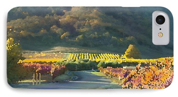 The Hills Of Clos La Chance Winery Phone Case by Artist and Photographer Laura Wrede
