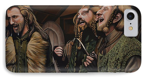 The Hobbit And The Dwarves IPhone Case by Paul Meijering