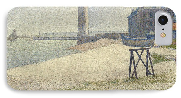 The Lighthouse At Honfleur IPhone Case by Georges Pierre Seurat