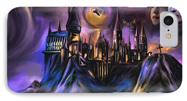 The Magic Castle I. IPhone Case by Andrzej Szczerski