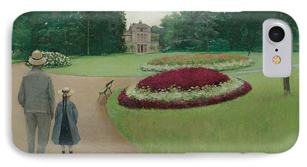 The Park Of The Caillebotte Property At Yerres IPhone Case