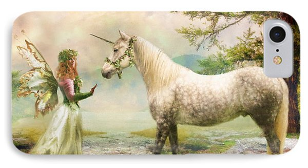The Unicorn Fairy IPhone Case by Trudi Simmonds