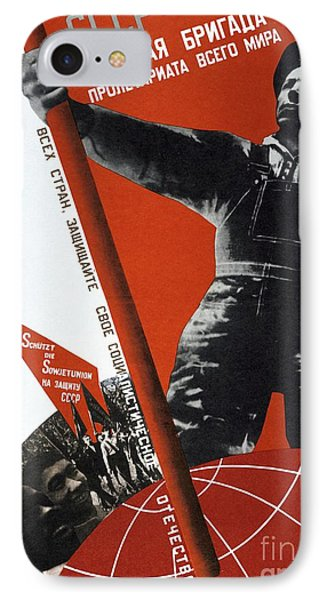 The Ussr Is The Elite Brigade Of The World Proletariat 1931 IPhone Case