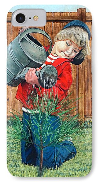 The Young Arborist IPhone Case by William Goldsmith