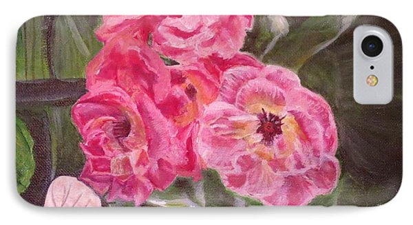 IPhone Case featuring the painting  Touch Of The Roses Painting by Kimberlee Baxter