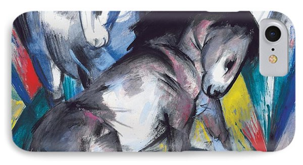 Two Horses Phone Case by Franz Marc