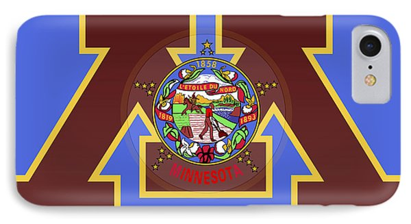 U Of M Minnesota State Flag IPhone Case by Daniel Hagerman