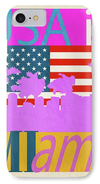Usa Is Miami IPhone Case by Joost Hogervorst