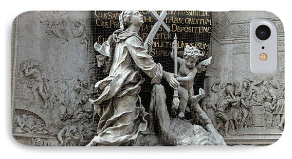 Vienna Austria - Plague Monument IPhone Case by Gregory Dyer