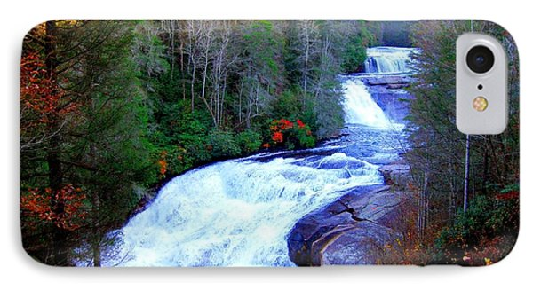 Waterfall At Dupont Forest Nc 2 IPhone Case by Annie Zeno
