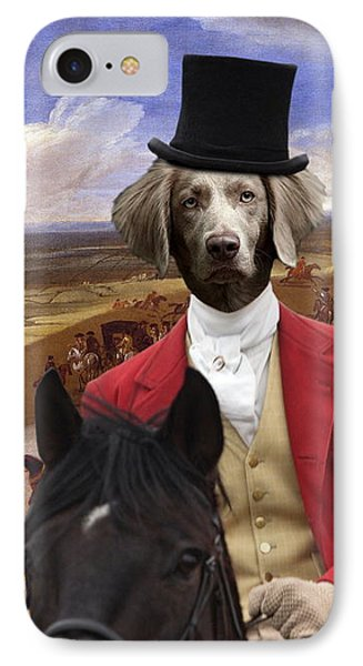 Weimaraner Art Canvas Print  IPhone Case by Sandra Sij