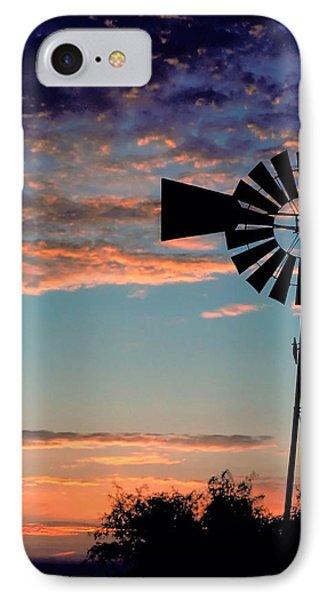 Windmill At Dawn IPhone Case