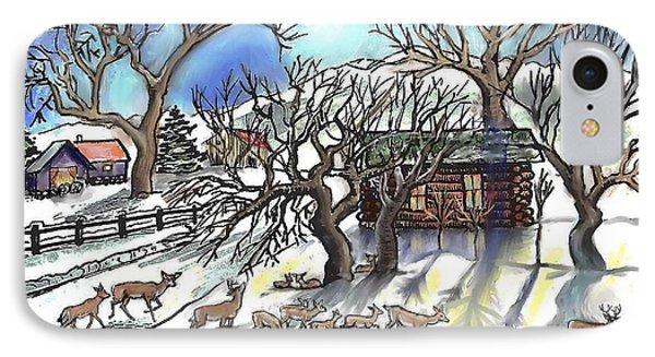 Wyoming Winter Street Scene IPhone Case by Dawn Senior-Trask