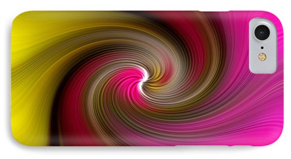 Yellow Into Pink Swirl IPhone Case