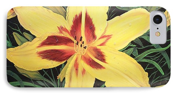 IPhone Case featuring the painting  Yellow Lily by Sharon Duguay