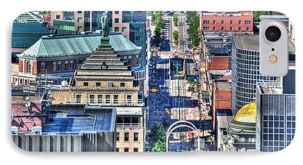 0024 Visual Highs Of The Queen City ...main St... IPhone Case by Michael Frank Jr