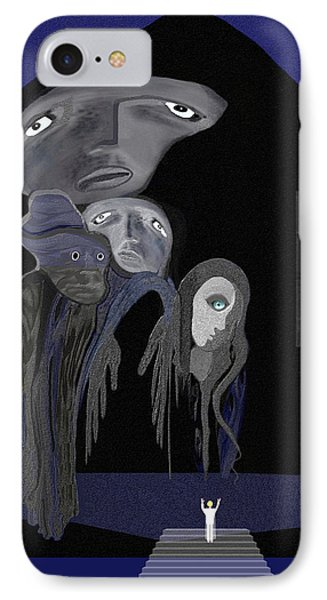 004 - Arrival Of The Gods  IPhone Case by Irmgard Schoendorf Welch