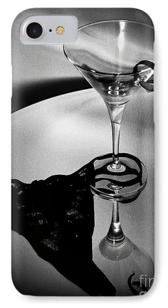 Martini Glass Charm IPhone Case by Linda Bianic