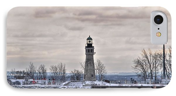 01 Winter Light House IPhone Case by Michael Frank Jr