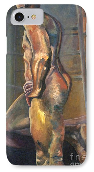 IPhone Case featuring the painting 01286 I Know by AnneKarin Glass
