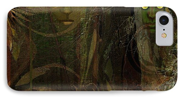026  - Some Are Forever Sleeping In The Woods IPhone Case by Irmgard Schoendorf Welch