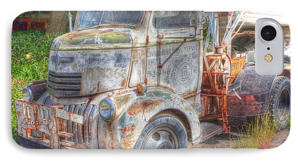 0281 Old Tow Truck IPhone Case by Steve Sturgill