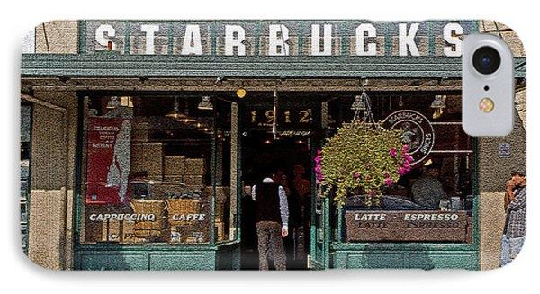 0370 First Starbucks IPhone Case