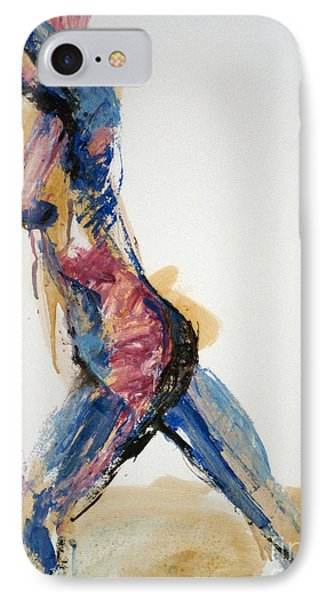 IPhone Case featuring the painting 04867 Full Speed Ahead by AnneKarin Glass