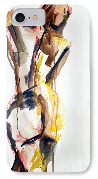 IPhone Case featuring the painting 04876 Coming Home by AnneKarin Glass