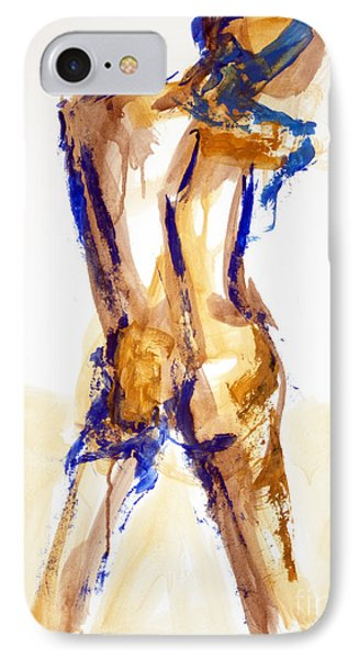 IPhone Case featuring the painting 04879 Free Thinker by AnneKarin Glass
