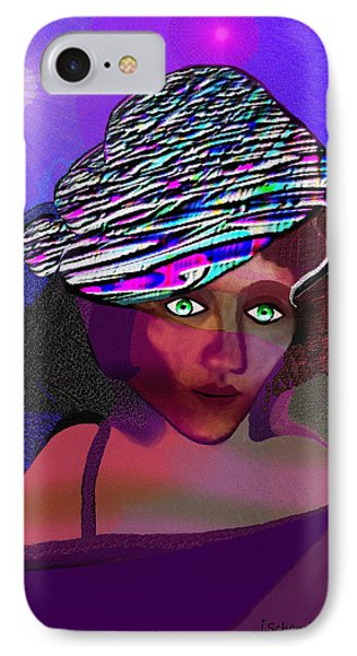 049 - She Came At Midnight  Phone Case by Irmgard Schoendorf Welch