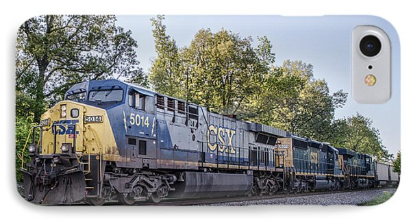 05.06.14 - Csx 5014 At Madisonville Ky IPhone Case by Jim Pearson