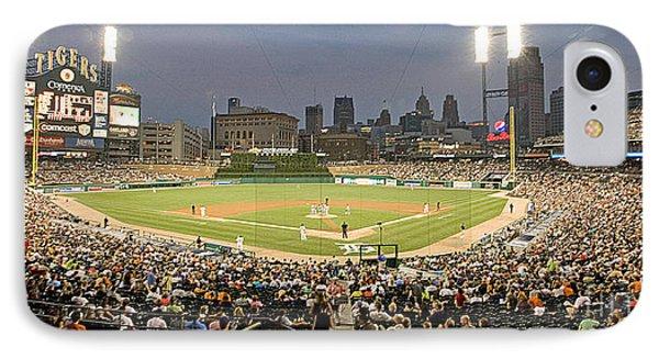 0555 Comerica Park Detroit IPhone Case by Steve Sturgill
