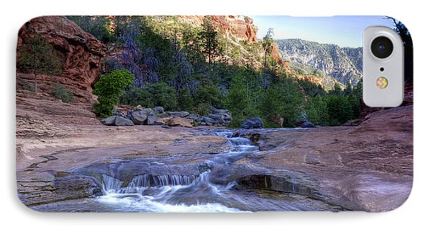 0696 Slide Rock State Park IPhone Case by Steve Sturgill