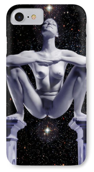 0734 Nude Woman On Star Altar IPhone Case