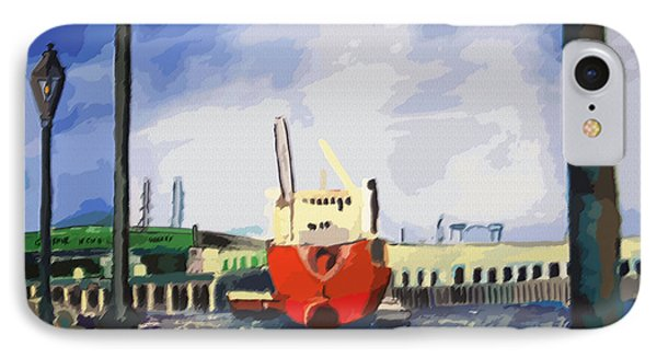 082014new Orleans Wharf IPhone Case by Garland Oldham