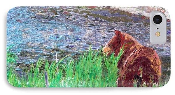 082714 Black Bear Pastel IPhone Case by Garland Oldham
